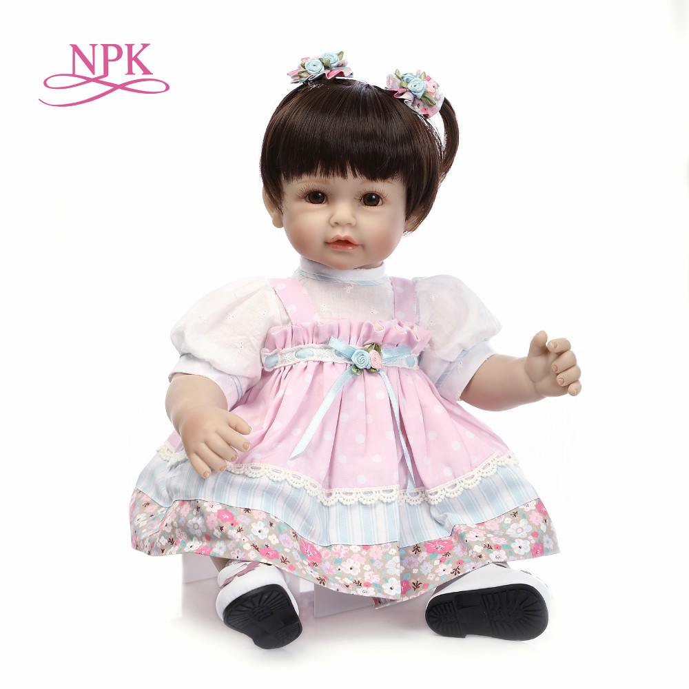 NPK Realistic 22'' Silicone Reborn Baby Dolls wear Clothes Looks So Truly Full Body Vinyl Babies Dolls Cute Fashion Girl Gifts truly 20 reborn baby dolls full body silicone vinyl realistic simulation girl and boy twins babies dolls fashion kids playmate