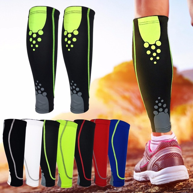 New 1Pcs Running Calf Compression Socks Sports Leg Sleeve Sock Leg Warmers  Men Women Football Sock Protector Shin Guard Pads f631d373e