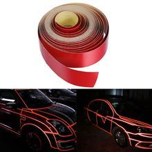 2cmx5m Car Reflective Strips Body Rim Stripe Sticker DIY Tape Self-Adhesive Sticker skull style alloy diy car sticker w self adhesive tap silver