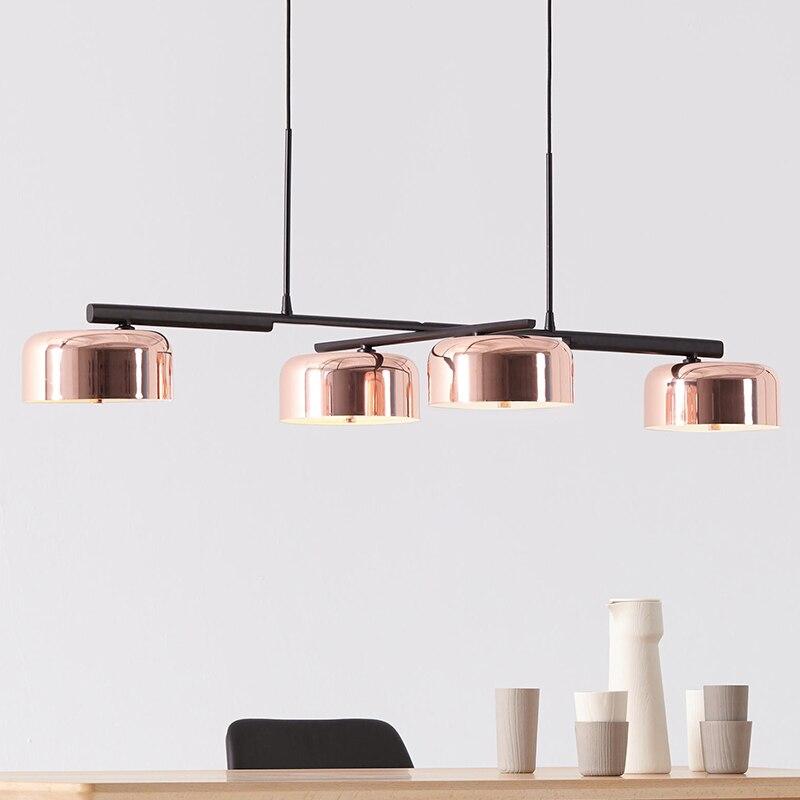 Moderna linea lineare lampadario a soffitto girevole regolabile bronzo oro lampada a sospensione luce per sala da pranzo soggiorno foyer