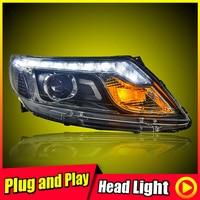 For 2012 KIA K2 Headlights Pair Projector Lens LED Day Light