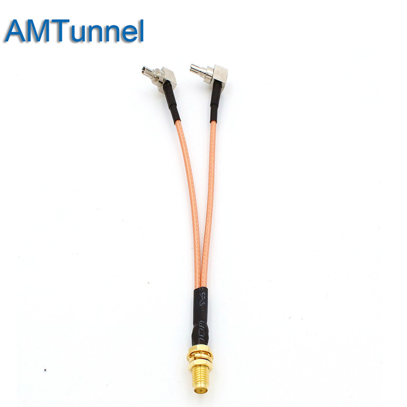 3G 4G Antenna SMA Female To CRC9/SMA/TS9 Connector Splitter Combiner RF Coaxial Pigtail Cable  For 3G 4G Modem Router