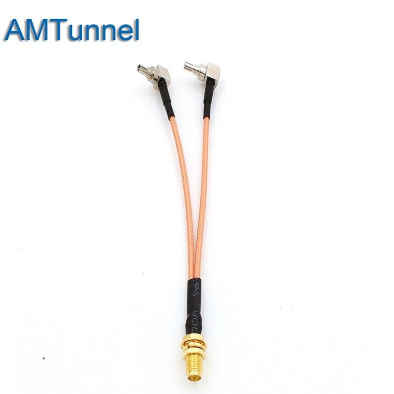 3G 4G antenne SMA Femelle à CRC9 Connecteur Combinateur RF Coaxial Câble Queue De Cochon pour 3G 4G Modem routeur