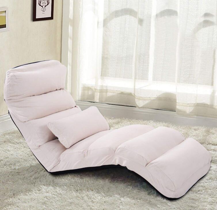 Galleria fotografica Pieghevole Pigro Chaise Lounge Reclinabile Relax Sedia Elegante Divano Pigro Divano Letti Sleeper Lounge Chair Moderna Giapponese Mobili Per La Casa