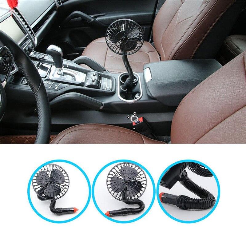 12v 15w Car Mini Cooling Fan Cigarette Lighter Auto