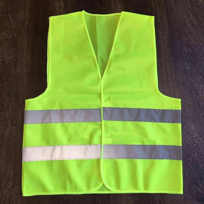 1pc Reflective safety Vest  Provides High Visibility Day  Night For Running Cycling Warning Safety vest  for car reflective vest working clothes warning safety vest provides high visibility day night for running cycling net breathable fabric