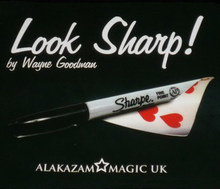 Look Sharp (DVD+Gimmick) Magic Tricks Marker Pen to Chosen Signed Card Magia Magician Close Up Street Props Illusion Mentalism(China)