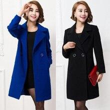 2016 winter women coat female woolen coat Double Breasted slim Cashmere manteau femme plus size 4XL poncho abrigos mujer coats