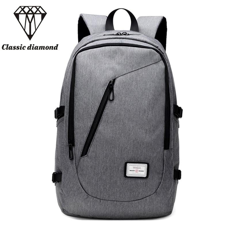 2017 Men's Backpacks Men Nylon Backpack School Bags For Teenagers Fashion Casual Male Rucksack 15.6 Inch Laptop Bag Mochila