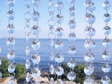 400m 14MM Garland Acrylic Crystal Prism Bead Chain Wedding Party Table Decoration Tree Strand Hung Strung wa066