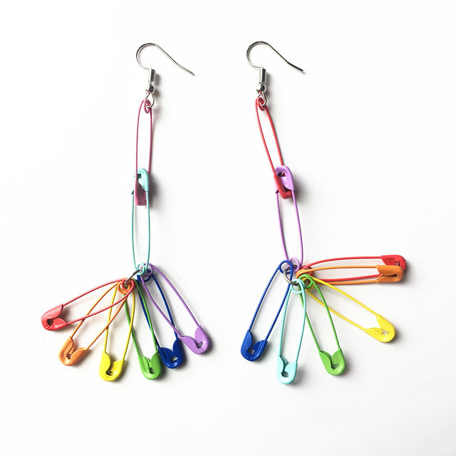 Rainbow Pins Earrings 1