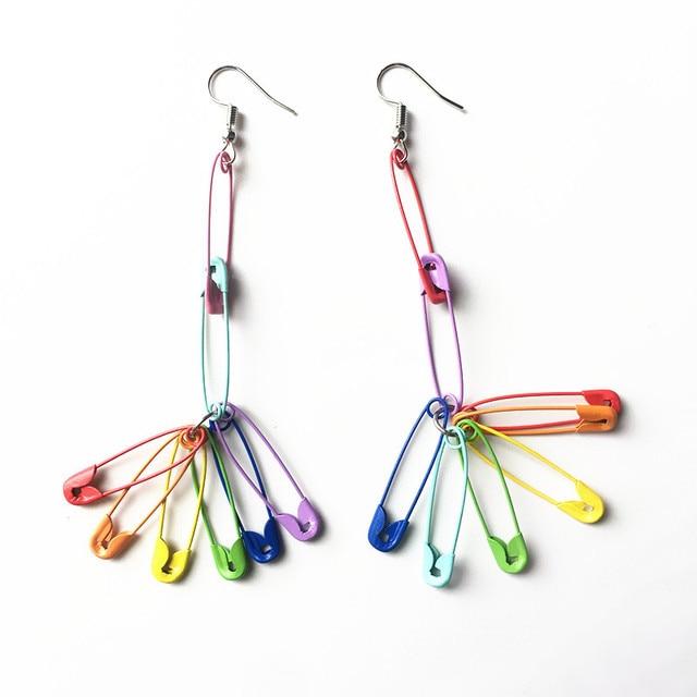 Rainbow Pins Earrings 1