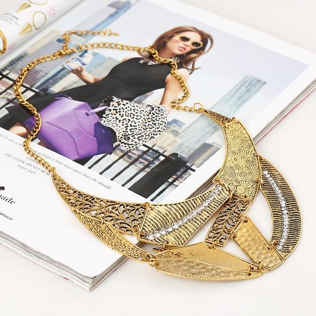 Фото lzhlq винтажные полые панк ожерелья 2021 женские геометрические цена