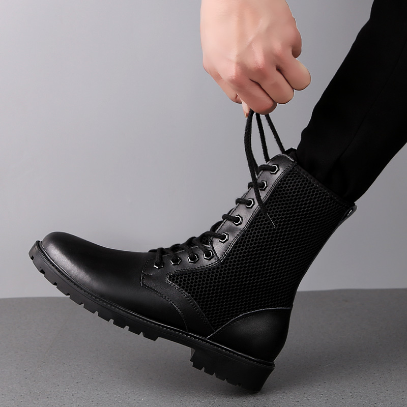 Men Casual Shoes Cow Leather Boots Martins Leather Work Boots Big Shoes 38 52 Safety Work