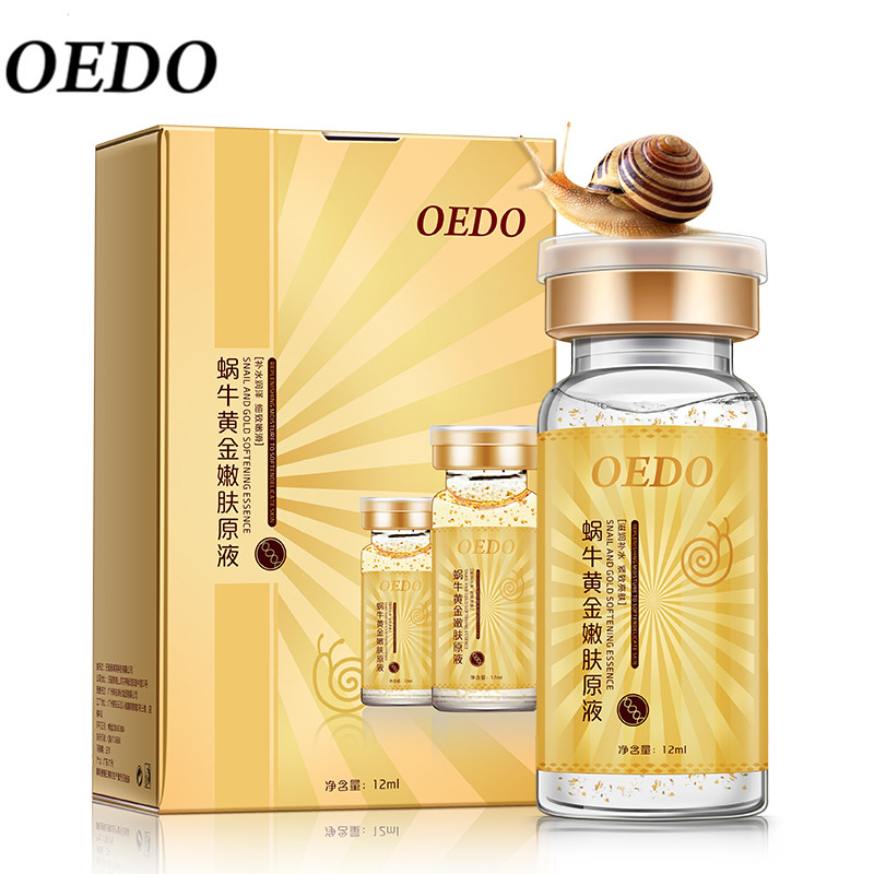 Anti-Aging Snail og Gold Essence Hydrating Hyaluronic Acid Moisturizers Behandling Face Care Cream Serum Snail Pure Extract