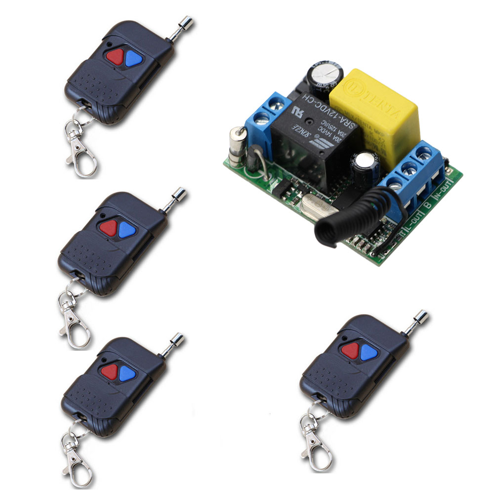 AC220V 1CH Relay Wireless Remote Control Switch Receiver Transmitter 315/433 Remote Control lighting/Lamp LED water pump Switch receiver & transmitter ac220v 1ch wireless remote control lighting switch system working way adjustable 315 433 92mhz