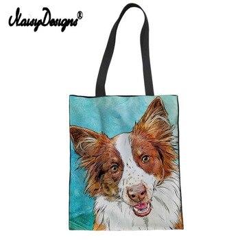 NoisyDesigns Lady Women's Large Shopping Tote Bag Canvas Handbag Shoulder for Female Girls Cute Dachshunds Print Beach Bag rope canvas print beach bag