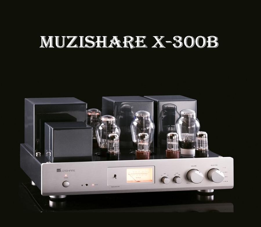 MUZISHARE X-300B Vacuum Tube Amplifier Class A Power Amplifier Dual Rectifier Single-Ended Amplifiers Hifi Tube AMP стоимость