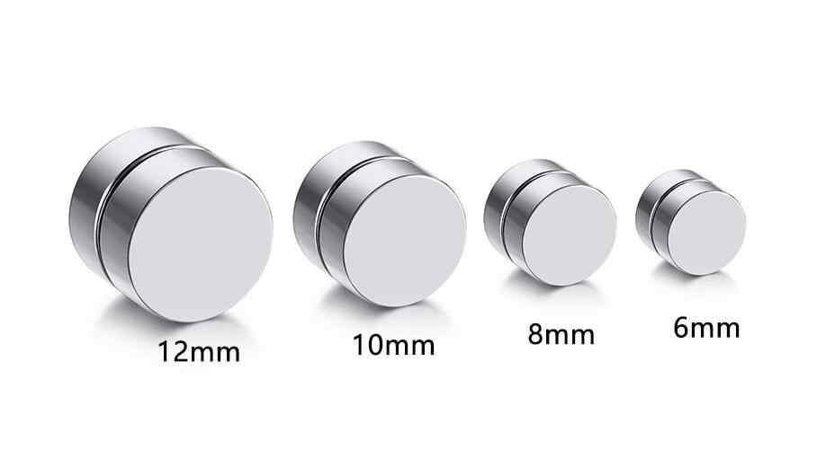 1 para Unisex ze stali nierdzewnej hipoalergiczne magnetyczne kolczyki męskie kolczyki damskie Earless hole klasyczny okrągły magnes Multico
