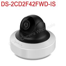 Free shipping English version DS-2CD2F42FWD-IS 4MP WDR Mini PT Network cctv IP Camera POE SD card recording, audio alarm