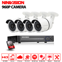 4CH CCTV System 1080N DVR kit 4PCS 960P IR Weatherproof Outdoor CCTV Camera Security System 1.3MP Camera AHD CCTV camera system