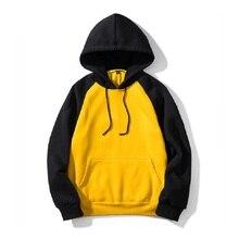 bbb7486e7bc9c Hoodies de los hombres de ropa deportiva otoño primavera moda Patchwork Hip  hop Streetwear con capucha