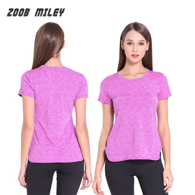Women Yoga Shirts Gym Fitness Running Sports T shirt Short Sleeve Workout Dry Quick Jogging Exercises Compression Tee Tops