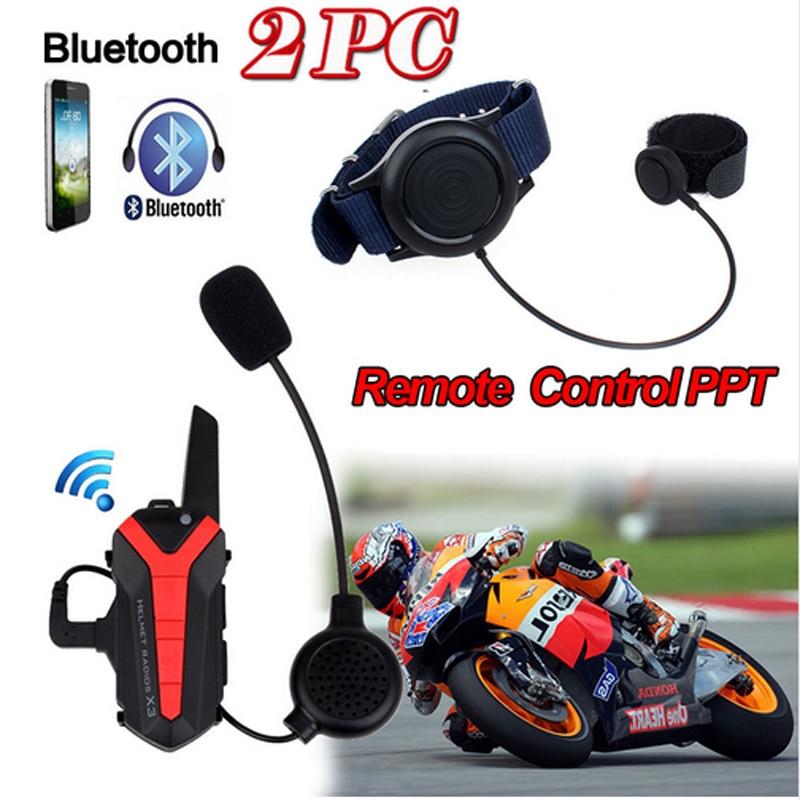Wupp Arrival! 2 Pcs X3 Plus Motorcycle Bicycle Waterproof Bluetooth Helmet Headset Intercom 3KM Group Walkie Talkie PTT Control