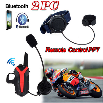 wupp Arrival! 2 pcs X3 Plus Motorcycle Bicycle Waterproof Bluetooth Helmet Headset Intercom 3KM Group walkie talkie PTT Control