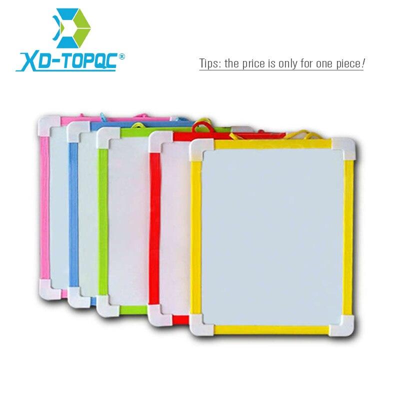 XINDI Magnetic Kids <font><b>Whiteboard</b></font> Dry Wipe Board 5 Colors Mini Drawing White boards 20.6*18.5cm Small Hanging Board Free Marker Pen