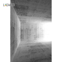 Laeacco Gray Wallpaper Room Corner Sunlight Portrait Photography Backgrounds Customized Photographic Backdrops For Photo Studio