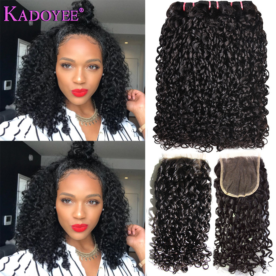 Human Hair Weaves Hair Extensions & Wigs Malaysia Funmi Hair Piexy Curl Double Drawn Kinky Curly Remy Hair One Bundle Pixel Curl Natural Black Color Can Be Dye For Women