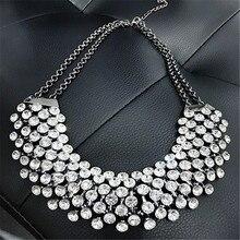 2016 New Statement Necklaces Women Brand Crystal CZ Diamond Necklaces & Pendants Choker Necklace Women Jewelry Bijoux Wholesale