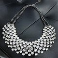 Vintage Choker Necklace for Women Rhinestone Beads Crystal Maxi Statement Necklace Colar Collier Collares Mujer Chocker 2017 New