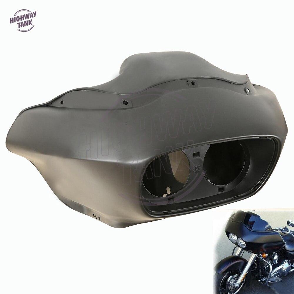 Matt Black Motorcycle Inner & Outer Headlight Fairing Moto Head Covers case for Harley FLTR Road Glide 1998-2013