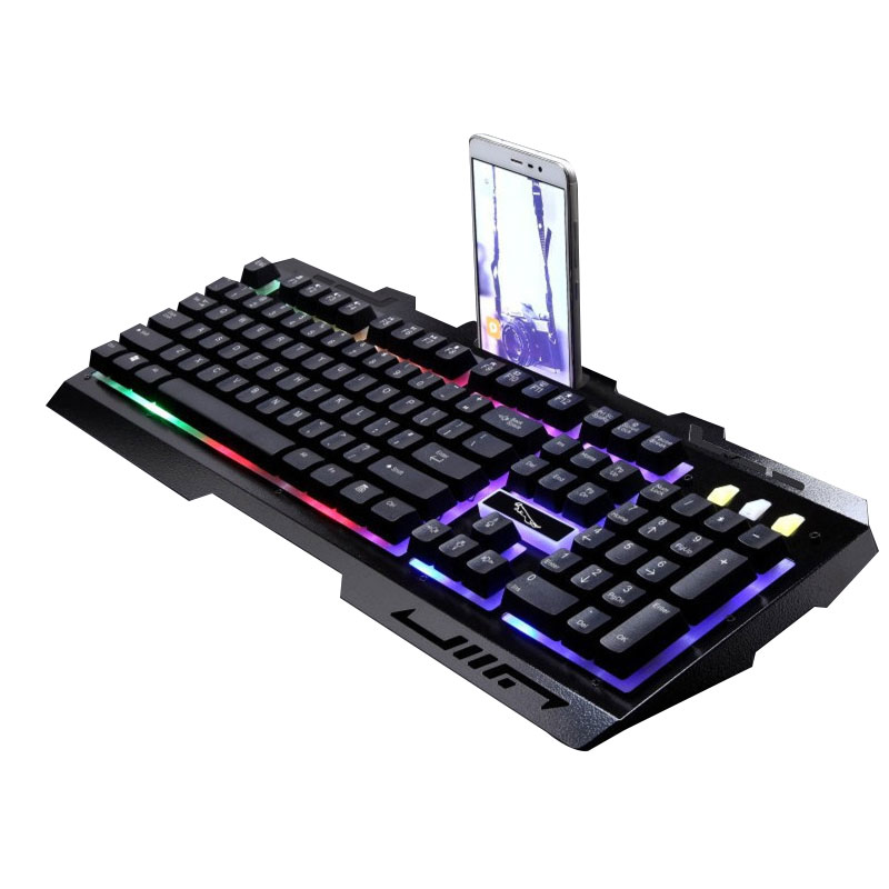 Floating Buttons Mechanical Hand Design Clavier Gamer USB Wired Gaming Mechanical Keyboard And Mouse Set Waterproof Glowing