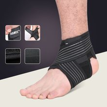 A pair of Black Quick-drying High Breathability Moisture-wicking Ankle Sports Safety Gear