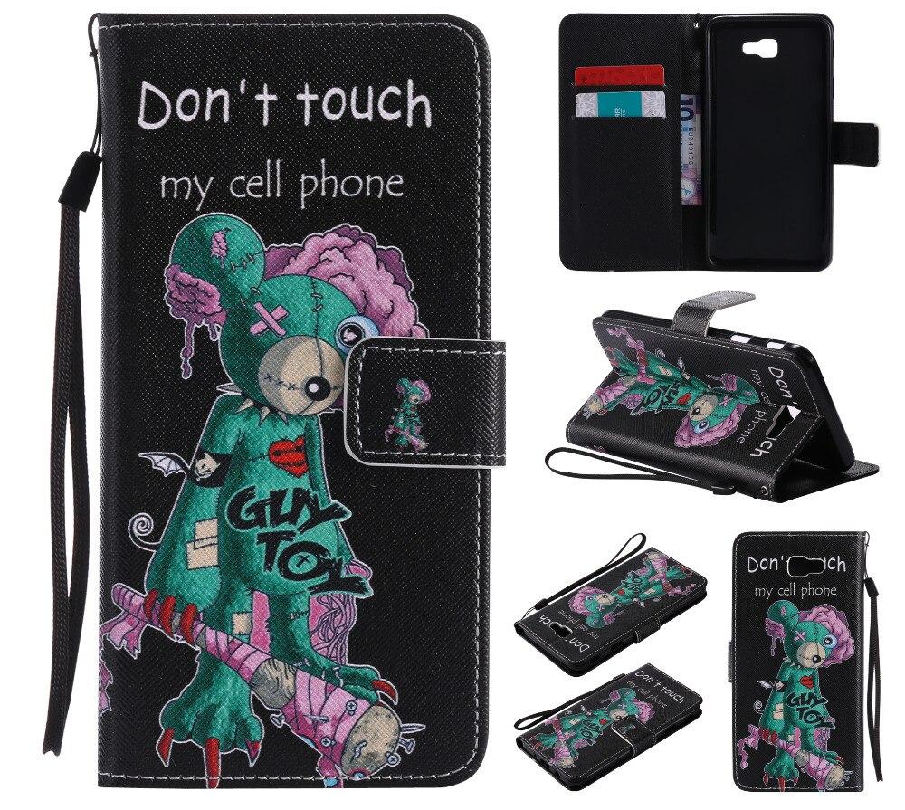 Не Touch мой телефон кошелек Флип Стенд держатель карты чехла для Samsung Galaxy On7 2016 <font><b>J7</b></font> премьер кожа Чехол Коке Fundas