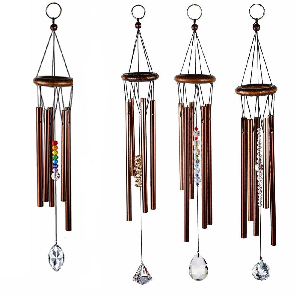 H & D Chakra Carillon Grâce Étonnante de Pierres Précieuses Arc-En-Chakra Cristal Pendentif Vent Carillon-Eastern Énergies Collection, 5 Styles