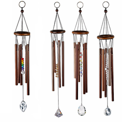 H&D Chakra Chime Amazing Grace Precious Rainbow Chakra Crystal Pendant Wind Chime- Eastern Energies Collection,5 Styles