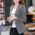 1pcs Women's Plus size jacket blazers 2017 Spring Cotton blended Slim fit small Suit Jackets ladies Skinny blazers Coats girls