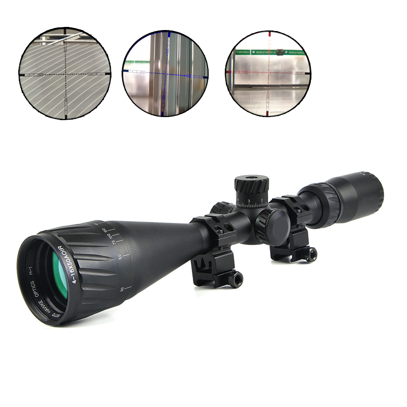Hawke 4-16x50 AOIR Tactical Optical Riflescope Red &Green&Blue Illuminated Reticle Fiber Sight Rifles Scope with Free Mount средство для волос 6 млх15 marlies moller средство для волос 6 млх15