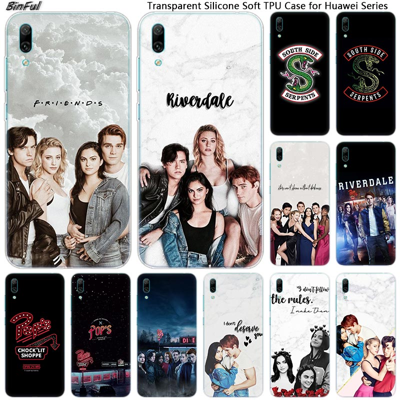 <font><b>Riverdale</b></font> South Side Serpents Soft Silicone Phone <font><b>Case</b></font> for <font><b>Huawei</b></font> <font><b>Mate</b></font> <font><b>10</b></font> 20 <font><b>Lite</b></font> Pro Enjoy 9S Y9 Y7 Y6 Y5 2019 2018 Pro 2017 image