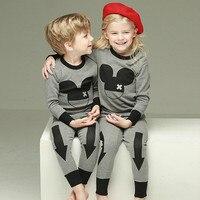 Syue Maan Meisjes Pyjama Sets 2017 Kids Minnie Mickey Pyjama Kinderen 100% katoen Nachtkleding Baby Boy Homewear Nachtkleding Kleding