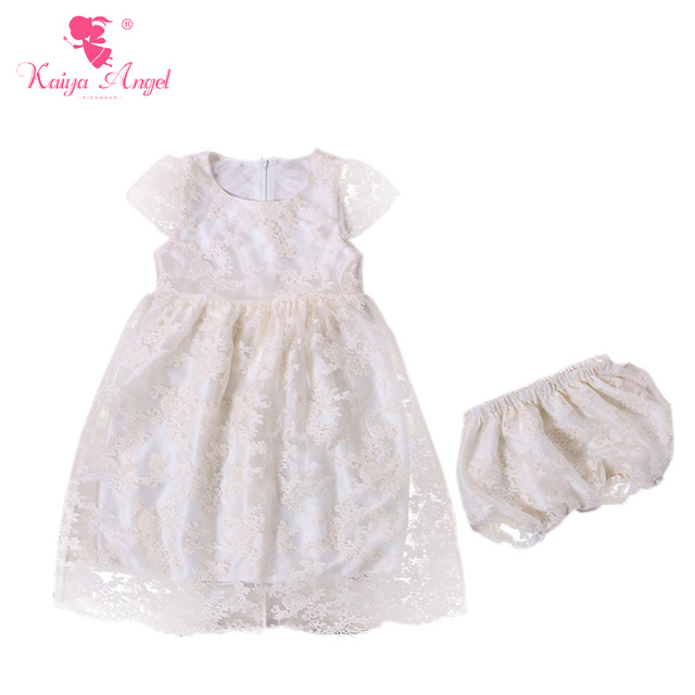 f08ef3433ddd Princess Girls Clothes Embroidered Organza Boutique Outfits Short Sleeve Dress  Shorts Outfits Ivory Flower Girl Wedding Clothes