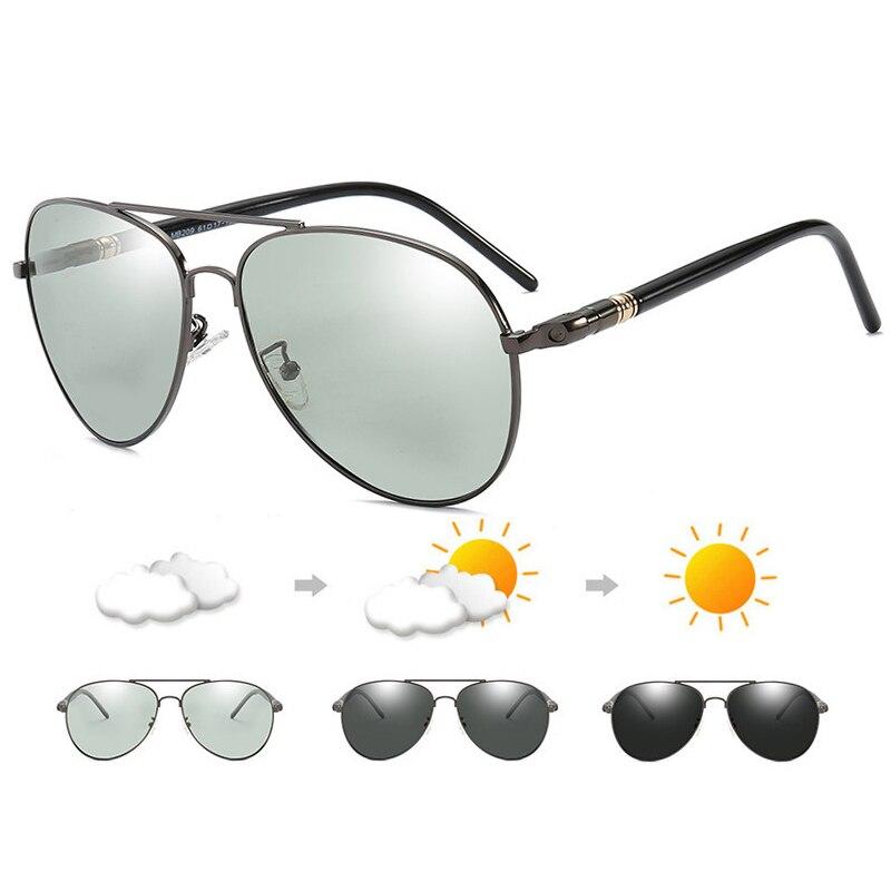 2019 Photochromic Sunglasses Men Polarized Sunglesses Driving Chameleon Sun Glasses Change Color Men Sunglasses RB209 Design