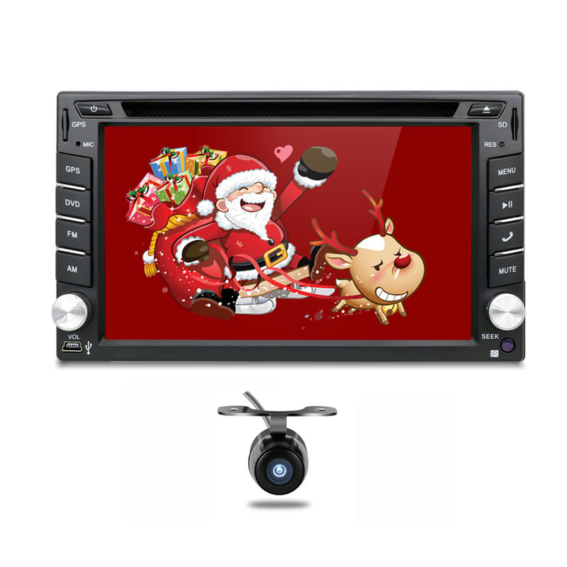 Universal 2 Din Android Car DVD Player GPS Wifi Bluetooth Radio 1 2GB CPU DDR3 Capacitive