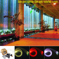 16 Вт RGBW мерцание блеск Оптическое волокно сенсорной свет комплект 300 шт. * 1,0 мм * 3 м для сенсорных дети спальня украшения, водопад шторы