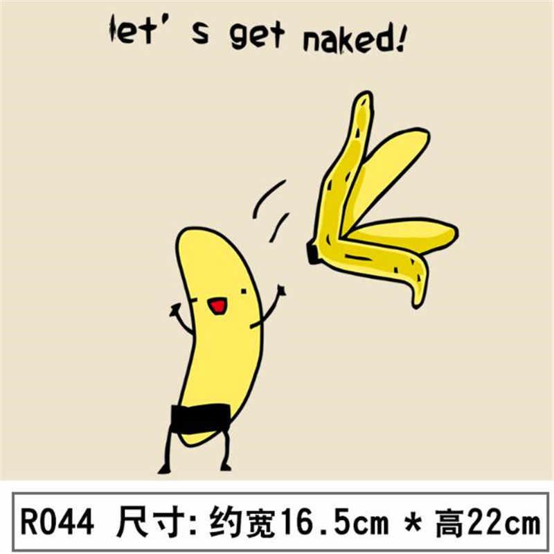 ShinEquin Biker Patch deal mit es Kleidung Wärme Transfer Druck Banana lassen sie sie nackt Eisen auf patches für kleidung aufkleber