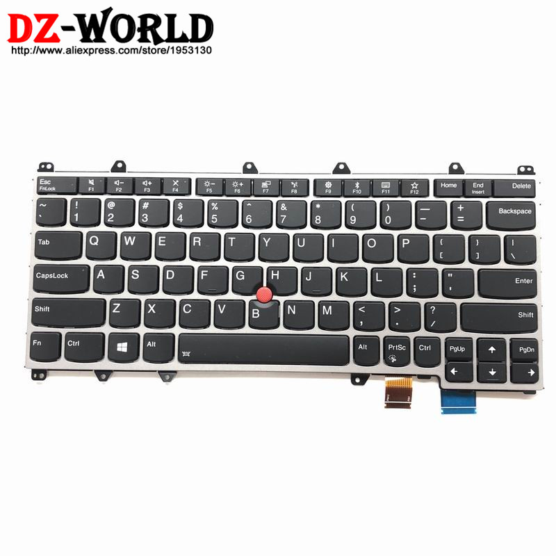 New Original for Thinkpad (X380 Yoga) (S1 Yoga 4th) (Yoga 370) Backlit Keyboard US English Backlight 01HX100 SN20P38796 01HW655 цена